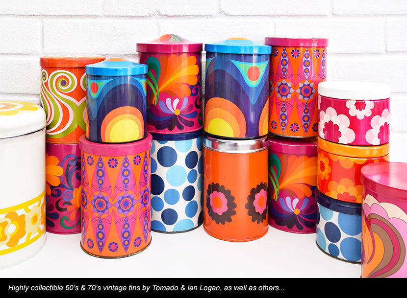 Vintage Retro Metal Tins & Canisters Collection