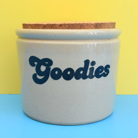 Vintage 1970s Goodies Storage Jar - Sweets / Chocolate / biscuits