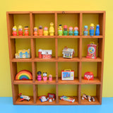 Vintage 1970s Larger Wooden Storage / Display Unit - Miniature Collections