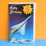 Vintage 1970s Greeting Card - Cut Out - Flying Concord Model