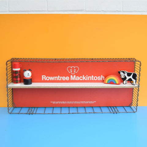 Vintage 1960s Metal Crate Shelf - Rowntree Mackintosh Sweets