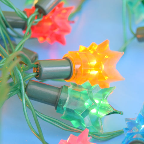 Vintage 1970s Christmas String Lights - Spikes