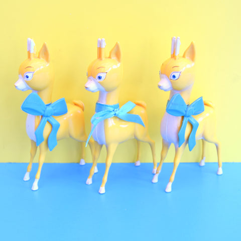 Vintage 1970s Babycham Figures / Bambi / Fawns