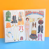 Vintage 1970s Greeting Card - Cut Out - Happy Birthday - Hippy Doll To Dress