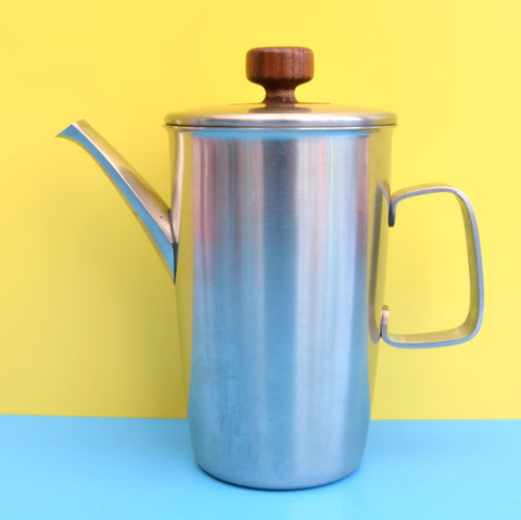 Vintage 1960s Rare Teak / Stainless Coffee Pot - Gerald Benney