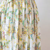 Vintage 1950s Pretty Fit & Flare Dress - Mimosa Flowers / Blossom size 12 ish