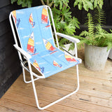 Vintage 1970s Folding Garden Chair - Windsurfer Print