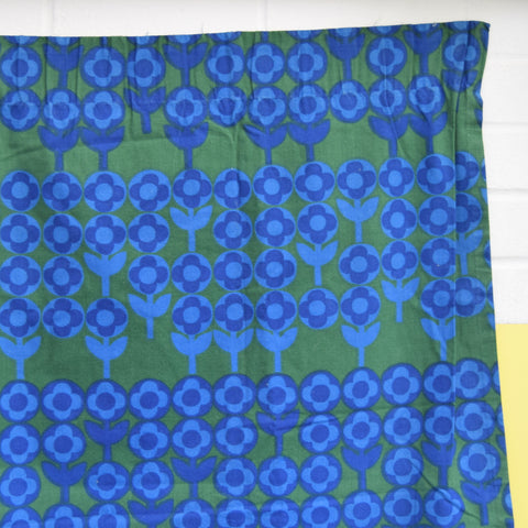 Vintage 1960s Fabric - Heals Verdure - Peter Hall - Green & Blue