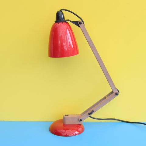Vintage 1980s Mac Lamp - Desk Lamp - Conran - Red