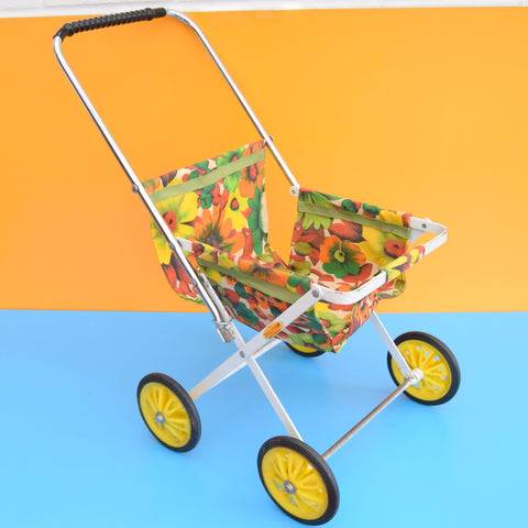 Vintage 1960s Raleigh Pram / Buggy - Flower Power