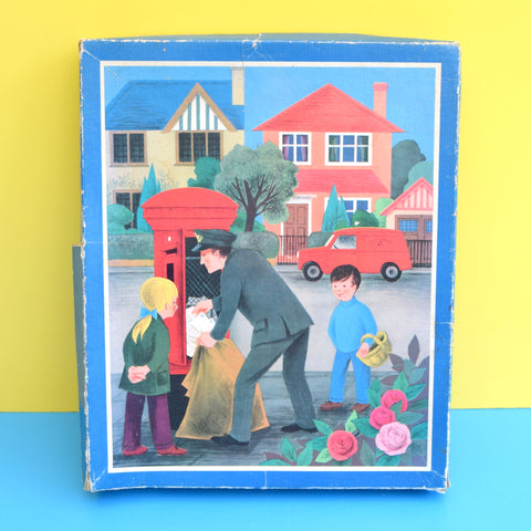 Vintage 1970s Wooden Jigsaw Puzzle - by Galt - The Postman .
