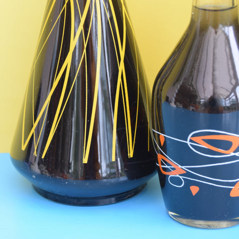 Vintage 1950s Glass Decanters - Ideal Home Bar / Bubble Bath Gift ?