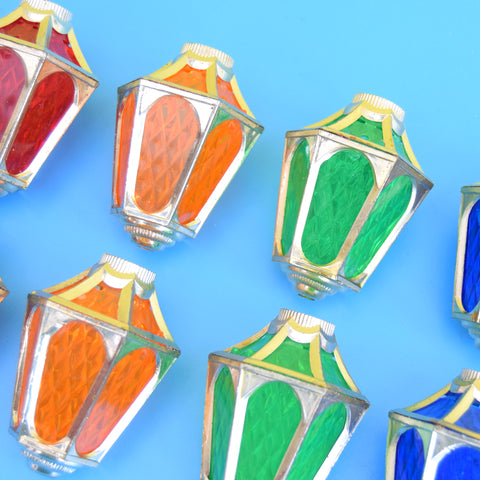 Vintage 1970s Christmas String Light Covers - Larger Lanterns