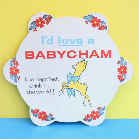 Vintage 1960s Babycham Cardboard Drinks / Tray Mats - Bambi