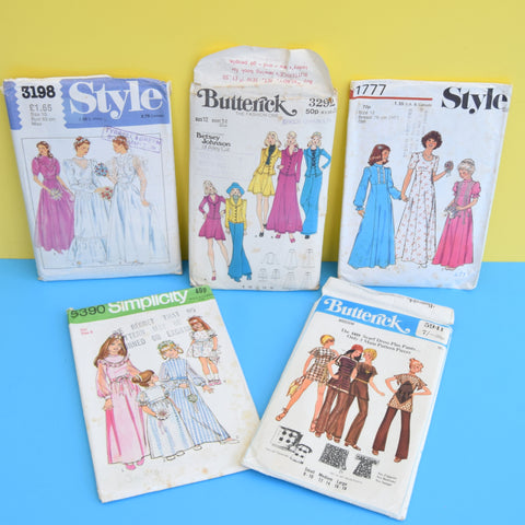 Vintage 1970s / 80s Dress Making Patterns #2- x5