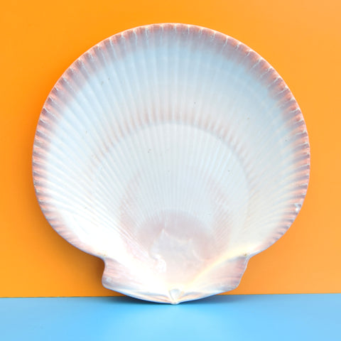 Vintage 1960s Wedgwood Ceramic Plate - Shell Shaped - Pink