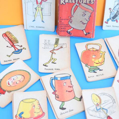 Vintage 1940s Kitchen Kreetures Card Game - Ideal For Framing