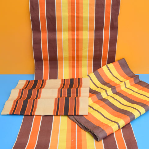 Vintage 1970s Replacement Garden Chair / Deckchair Canvas - Orange