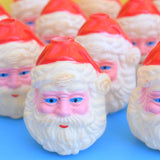 Vintage 1970s Christmas String Light Covers - Santa Heads