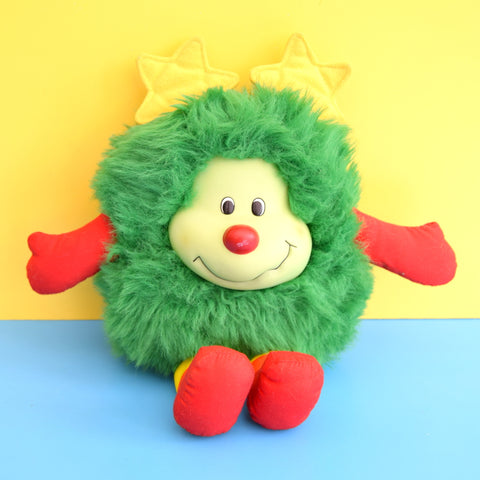 Vintage 1980s Cuddly Rainbow Brite Sprite Soft Toy - Green Lucky