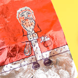 Vintage 1950s Foil Father Christmas / Santa Sheets - Chocolate Making