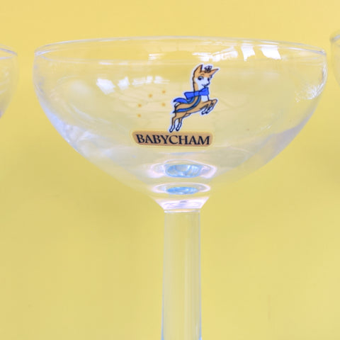 Vintage Single Babycham Glasses - Great Gifts