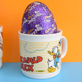 Vintage 1980s Kids Ceramic Mugs With Easter Eggs - Great Gift