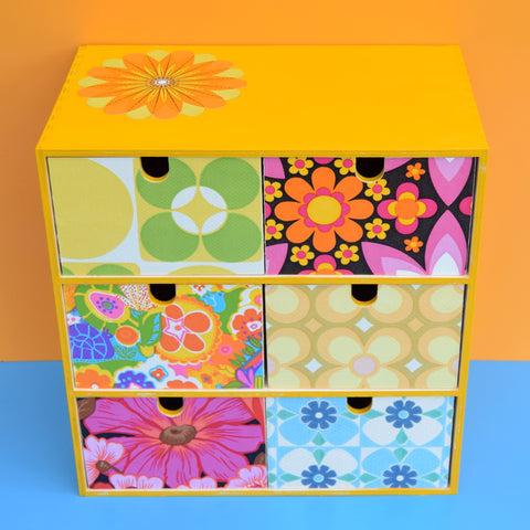 Small Wooden Drawer Unit - Vintage Wallpapers - Patchwork #2