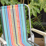 Vintage Striped 1960s Folding Garden Chair - Rainbow Stripe (2 available)