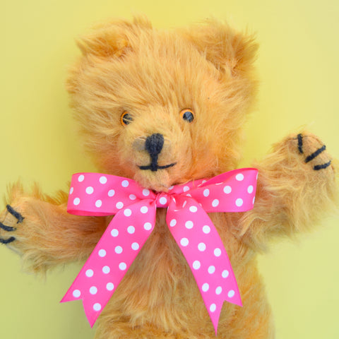 Vintage 1950s Pedigree Teddy Bear - Yellow Mohair