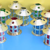 Vintage 1970s Christmas String Light Covers - Mini Lanterns