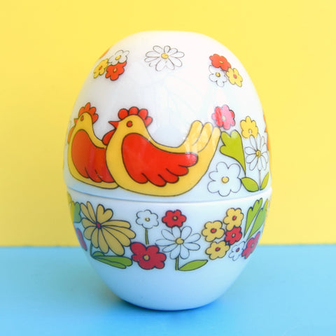 Vintage 1960s West German Ceramic Egg - Flower Power