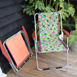 Vintage 1960s Folding Garden Chair - Flower Power (2 available) - Green