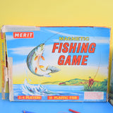 Vintage 1960s Magnetic Fishing Game - Merit - Plastic Fish