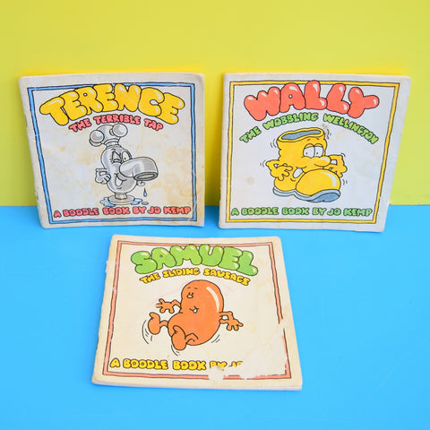 Vintage 1980s Boodle Books - Jo Kemp - Terrence Tap, Wally, Samuel Sausage