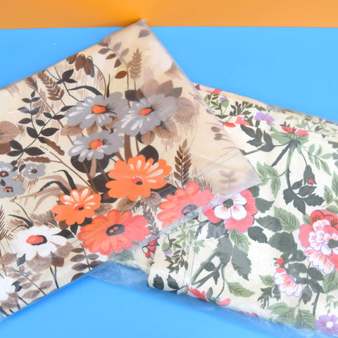 Vintage 1970s Replacement Sunlounger Covers - Floral