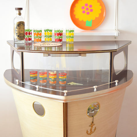 Vintage 1950s Kitsch Nautical Home Cocktail Bar - Boat