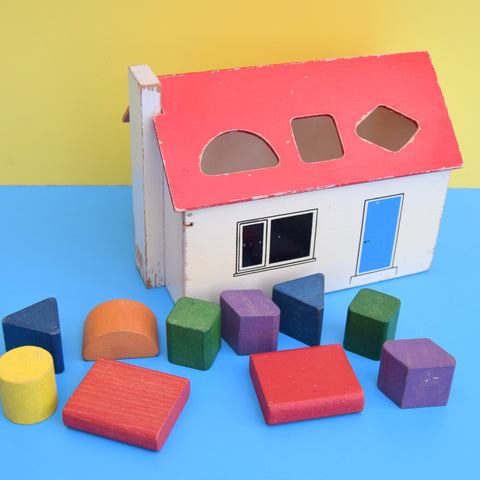Vintage 1960s Wooden House & Blocks - Galt