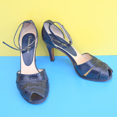 Vintage 1970s Christian Dior Snake Shoes - UK Size 4.5