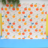 Vintage 1970s Fabric / Curtains - Jonelle - Orchard - Apples & Birds