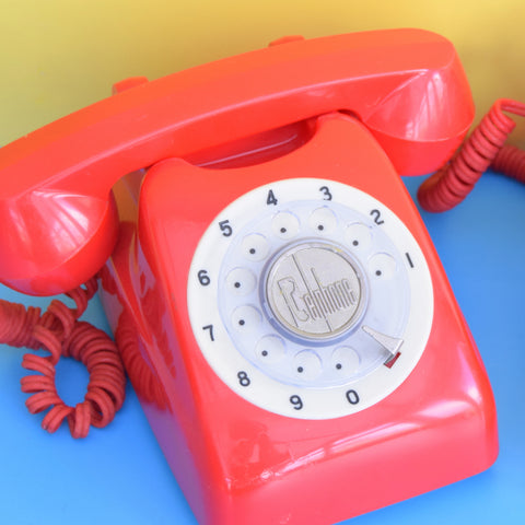 Vintage 1960s Plastic Toy Telephones - Belphone - Red