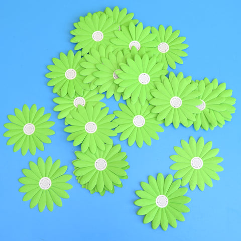 Vintage 1960s Takahashi Paper Flower Heads x5 - Blue/ Green / Pink