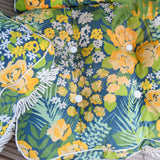Vintage 1960s Padded Garden Cushions Flower Power