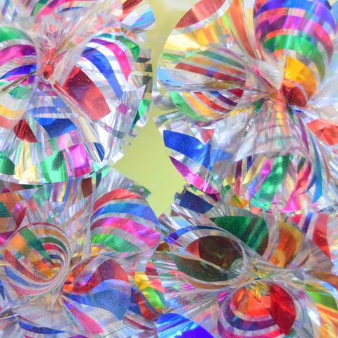 Vintage 1970s Kitsch Foil Decorations - Rainbow - Boxed