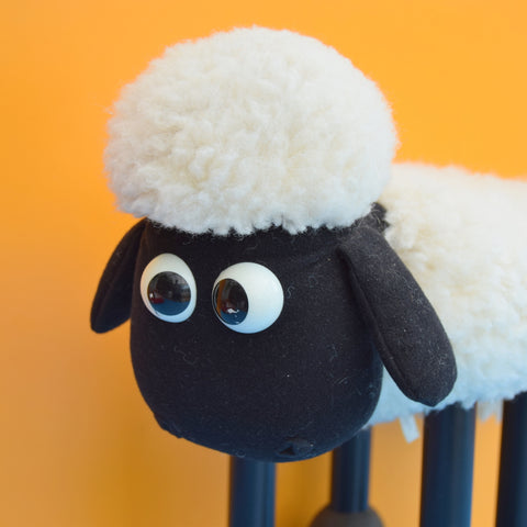 Vintage 1980s/90s Shaun The Sheep Footstool - Boots