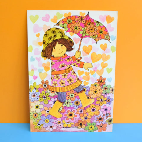 Vintage 1970s Greeting Card - by Gwyneth Mamlok - Brolly Dolly