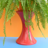 Vintage 1970s Plastic Tam Tam Stool / Planter - Red
