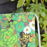 Vintage 1970s Folding Garden Chair - Flower Power - Green (2 Available)