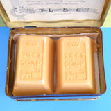Vintage 1980s London Soap Co - Gold Bar Soap In Chest