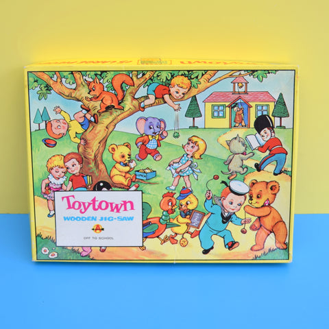 Vintage 1960s Toy Town Off To School - Jigsaw Puzzle
